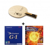 Nittaku Acoustic Carbon Table Tennis Blade (OFF) + Nittaku Fastarc G1 Rubber + Nittaku Moristo SP Rubber