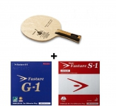 Nittaku Acoustic Carbon Table Tennis Blade (OFF) + Nittaku Fastarc G1 Rubber + Nittaku Fastarc S1 Rubber