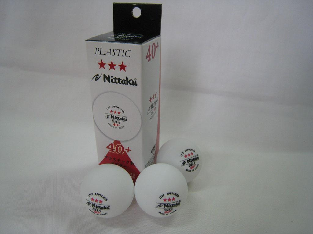 Nittaku Sha 40 Table Tennis Ball Plastic With Seam