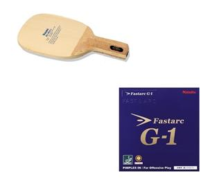 Nittaku Rorin Table Tennis Blade + Nittaku Fastarc G1 Table Tennis Rubber