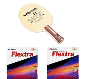 Butterfly Primorac Table Tennis Blade + Butterfly Flextra Rubbers x2